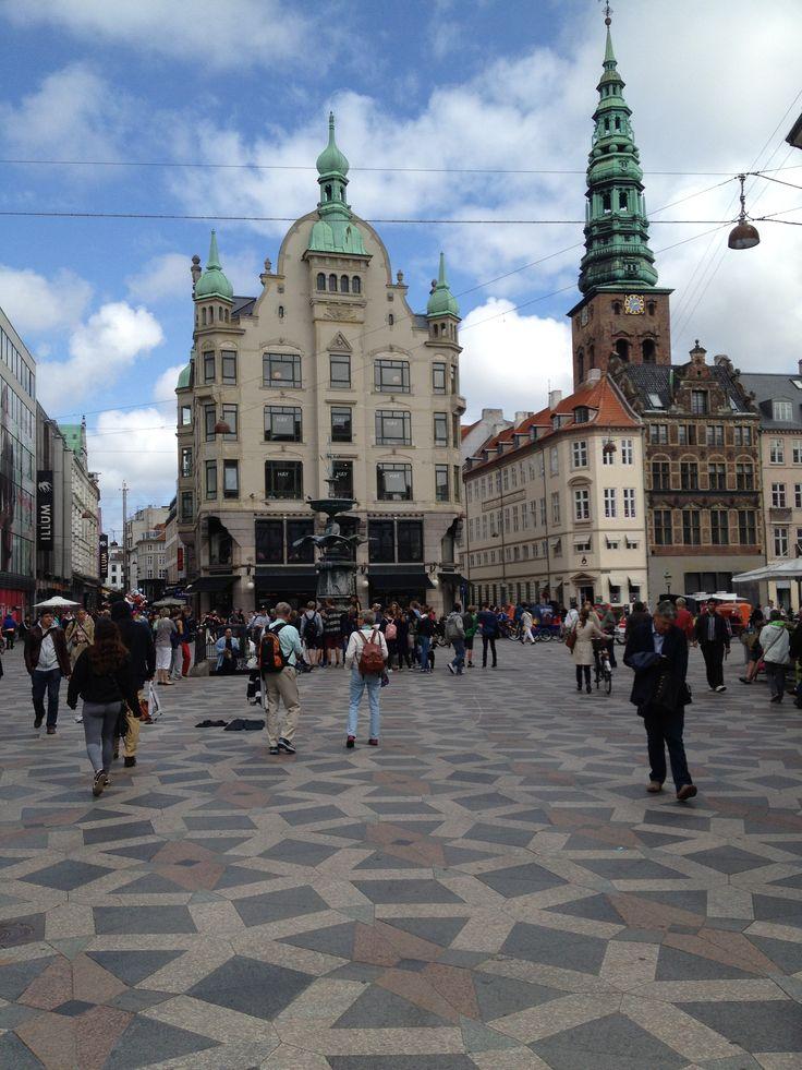 Pedestrian plaza in Copenhagen