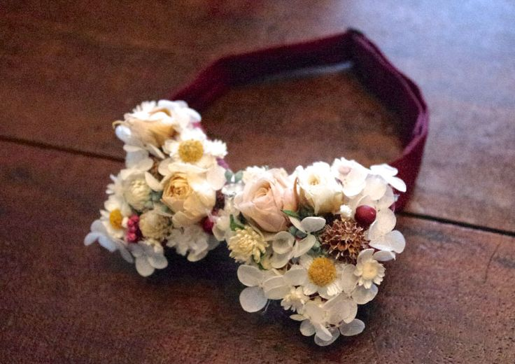 オーダーメイド花の蝶ネクタイ ブーケとブートニアもオーダー出来る??