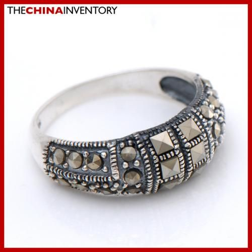 SIZE 6.75 MACARSITES 925 STERLING SILVER BAND RING SIL2503