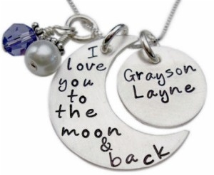 "Personalized ""I Love You to the Moon and Back"" Necklace (my best"
