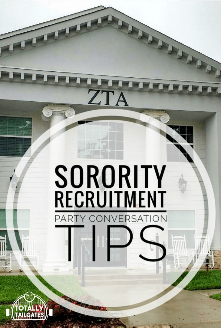 Sorority Recruitment Party Conversation Tips
