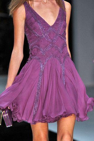 Elie Saab: Purple Shorts, Eliesaab, Purple Dresses, Elie Saab Spring, Spring 2009, Beautiful Dresses, Radiant Orchids, Colors Inspiration, Date Night Dresses