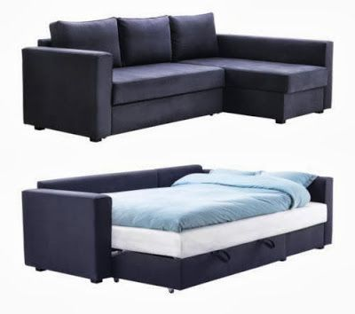 Sofa Bed. Like this design a lot. Much better than the sleeper couch at my parents' house.