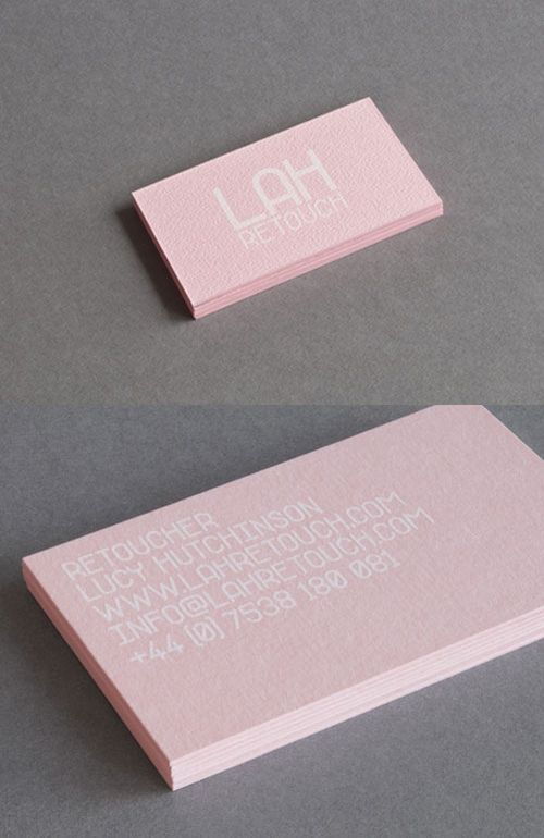 100 best 100 creative pink business cards for your inspiration pink business card hand cut business cards printed on candy pink paper lah reotuch is a retoucher with a specialty in beauty and fashion imagery colourmoves