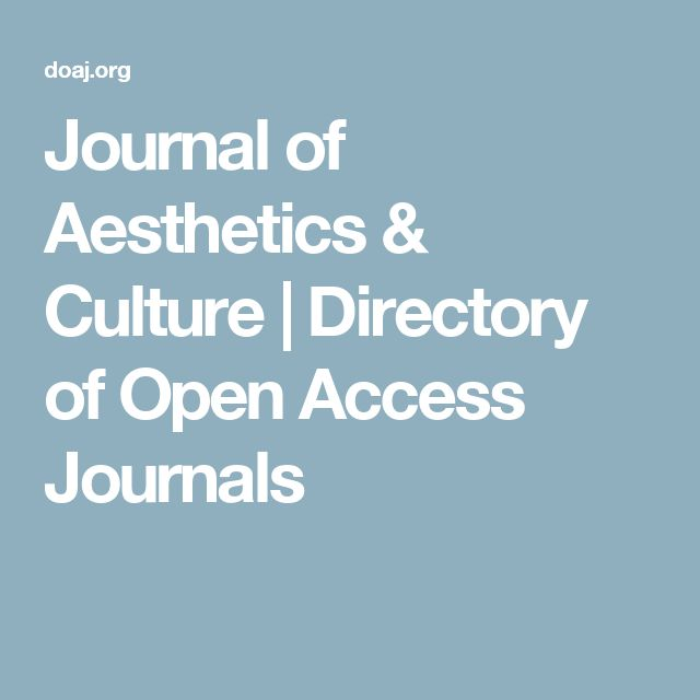 Journal of Aesthetics & Culture | Directory of Open Access Journals
