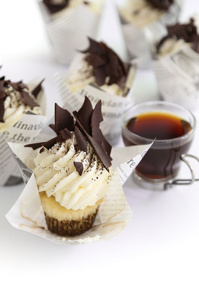 *Tiramisu Cupcakes - Do we really need an occasion to make these?  Naaaah.  The coffee soak is so rich and flavorful  The creamy mascarpne frosting does a good job of adding lightness and it balances the expresso (made with coffee liqueur) flavor well.