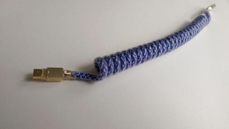 circapcs cable: nautical, coiled, clear techflex