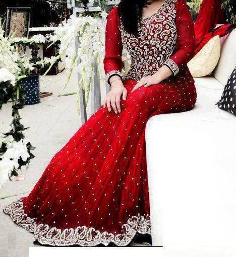 Trend Of Red Dresses 2014 For Pakistani Girls