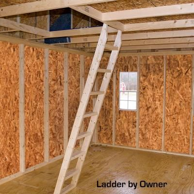 Best Barns Glenwood 12 ft. x 24 ft. Wood Garage Kit without Floor-glenwood_1224 - The Home Depot