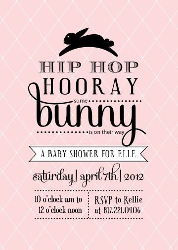 Vintage Bunny Baby Shower Invitation by DelightPaperie on Etsy