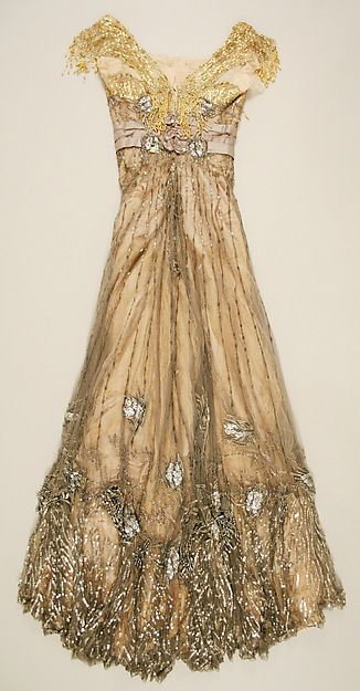 Evening dress (image 2 - back) | Jacques Doucet | French | 1907-1908 | silk | Metropolitan Museum of Art | Accession Number: 49.3.20