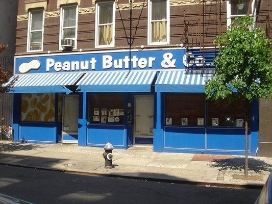 Peanut Butter & Co. (NYC) This specialty peanut butter brand has an eponymous sandwich shop in the West Village that serves 20 different peanut butter-based sandwiches — yes, there's a PB, but there's also one with spicy peanut butter, grilled chicken, and pineapple jam — and 10 peanut butter-filled desserts.