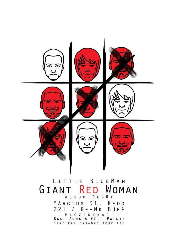 Little BlueMan Concert Poster Album Debut Graphic Typography