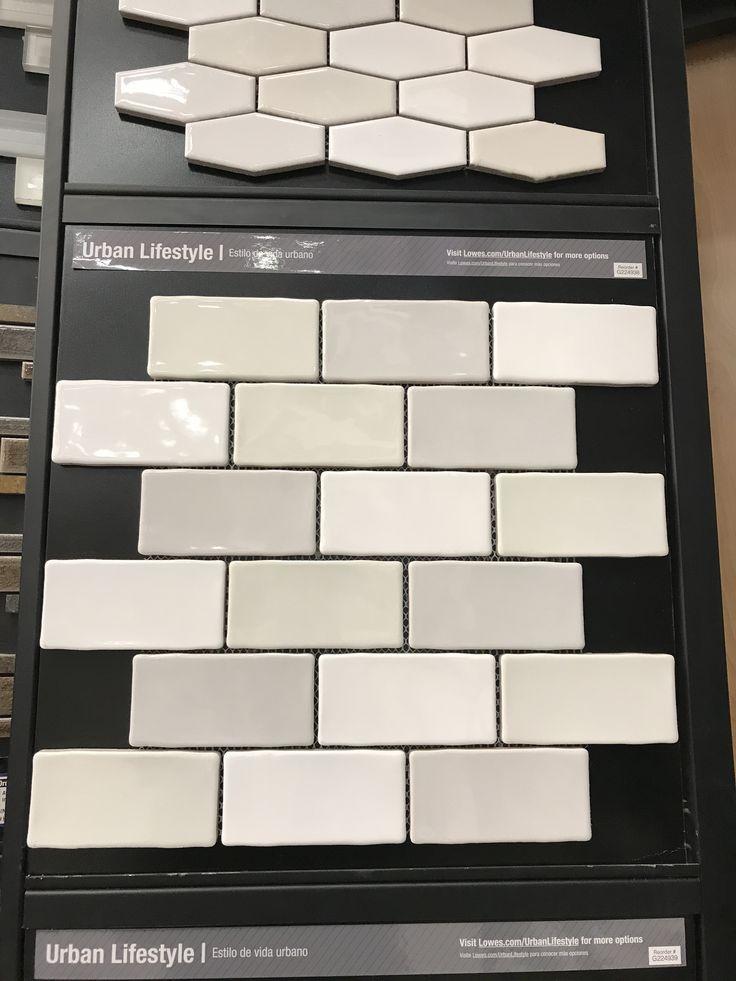 small subway tile at lowe's | lowes backsplash tile, lowes backsplash, kitchen tiles backsplash