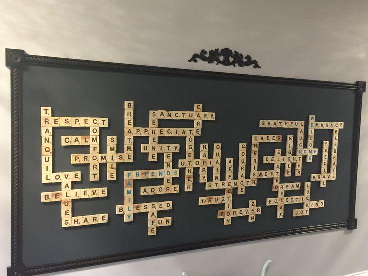 Huge Scrabble Board ( handmade tiles)