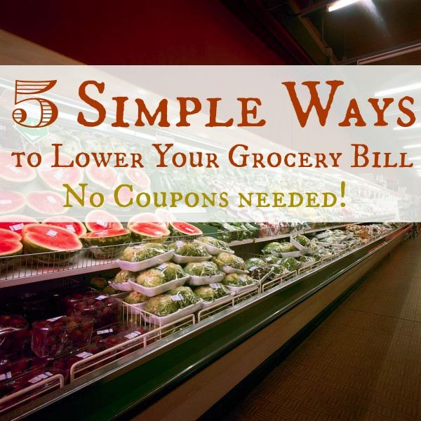 Grocery budgets can become tight---use these 5 simple steps to give you wiggle room! No coupon clipping needed!