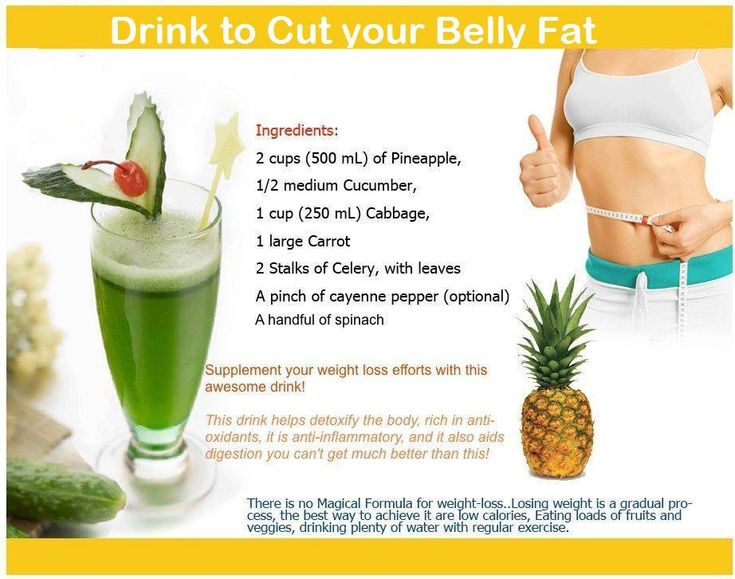 Go Green.  Drink up to cut your belly fat.