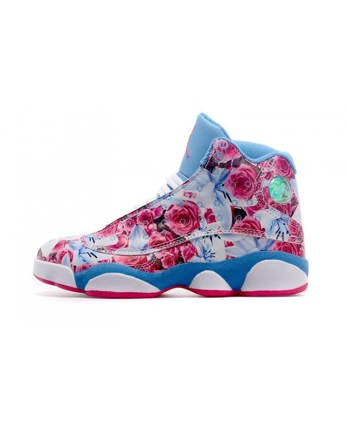 best website 07564 845ff Nike Air Jordan 13 Floral Sky Blue Rose Pink Trainer UK