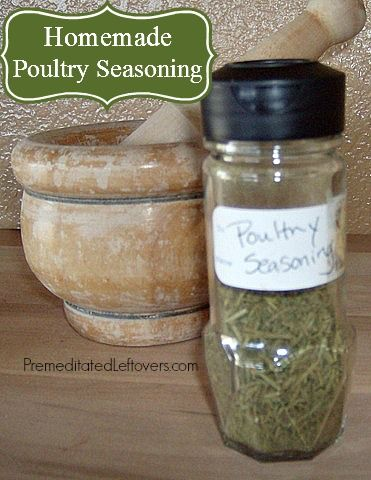 Homemade Poultry Seasoning Spice Mix - Make this popular poultry seasoning mix from spices in your cupboard and use it to add flavor to your Thanksgiving turkey!