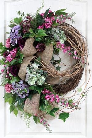 Honeysuckle Front Door Wreath, Great For Country Decor!  lots of different wreaths
