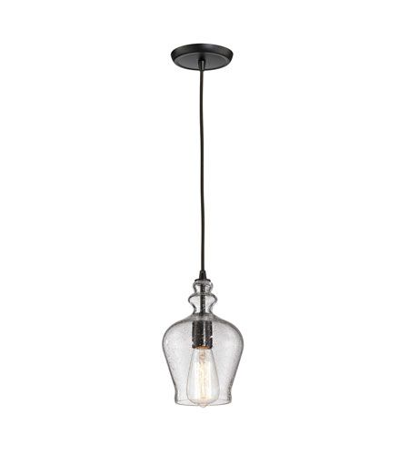 elk menlow park 1 light 6 inch oil rubbed bronze pendant ceiling light