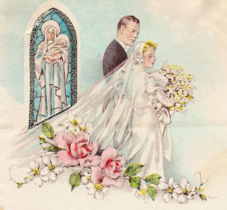 17 Best Images About Vintage Wedding Cards On Pinterest