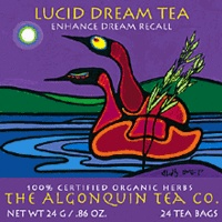 Lucid Dream Tea: Enhanced Dream Recall    Handpicked by canoe in the algonquin wilderness, sweet gale is a light flavourful herbal tea which is said to enable one to have more memorable dreams. Canadian Tea.