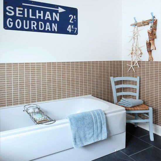 Modern Seaside Bathroom I Love That Chair