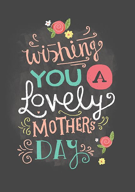 M&S Mother's Day Card by Steph Baxter, via Behance