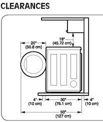 Image result for washer and dryer dimensions