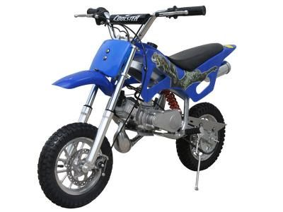 DIR024 49cc Dirt Bike Mini Model for Kids, Fully automatic, Full suspension, Hand Pull Start, Air cooled, 2-Stroke, Front/Rear Disc Brakes $369.00