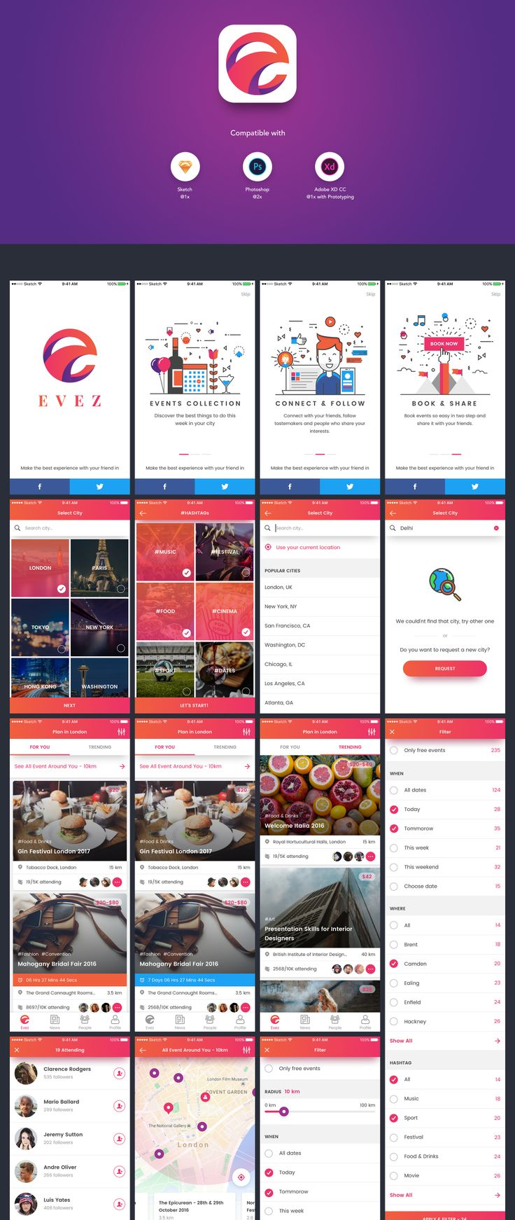 Event Discovery & Booking App UI Kit