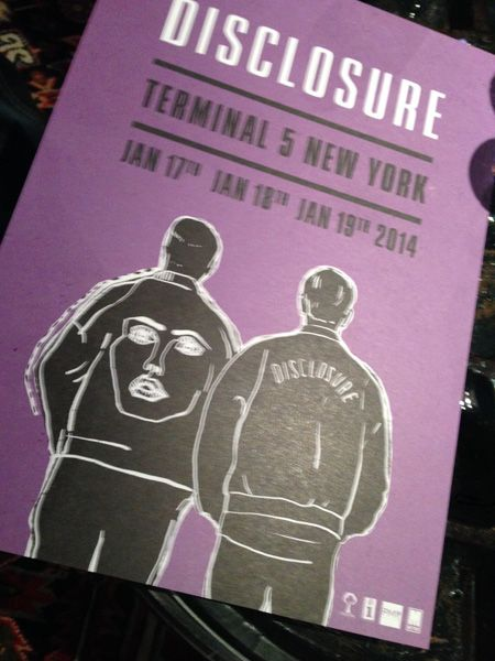 5.Jan. 17, NYC:  Poster for the historic Disclosure gigs at Terminal 5