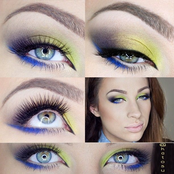 Lime & Cobalt make up using @Sally McWilliam McWilliam McWilliam Pine Lee Stell  shadows and  @Katarzyna C C C C C Gajewska