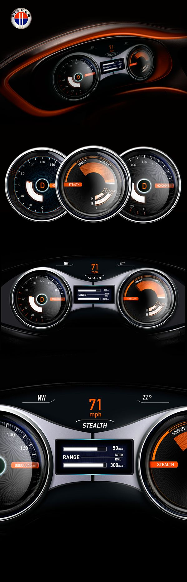 302 best cars images on pinterest cars car drawings and vintage cars instrument cluster karma rebuild on behance fandeluxe Image collections