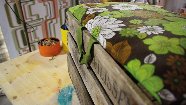 Dekentjesbox ui Rok en Rol, misschien wel leuk om eerder zo'n 'vintage' box te maken?