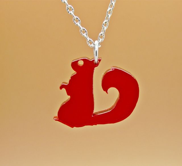 Product description for Red Squirrel Charm Necklace