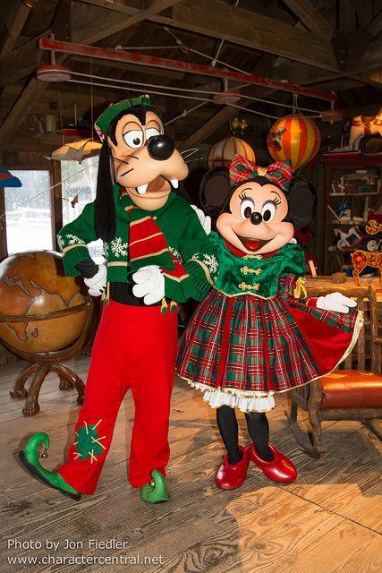 Visiting Santa Claus Village - Goofy & Minnie Mouse