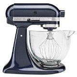 KitchenAid KSM155GBUB Artisan Design Series with Glass Bowl, 5 quart, Blueberry