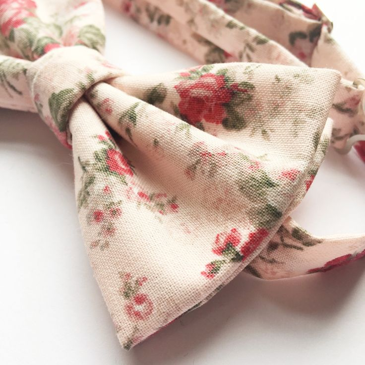 Blush pink rose bow tie - close up! #wedding #menswear
