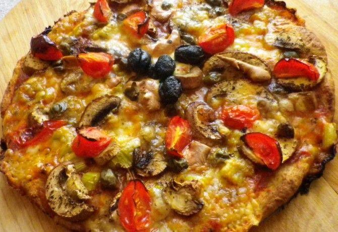 Diétás vega pizza