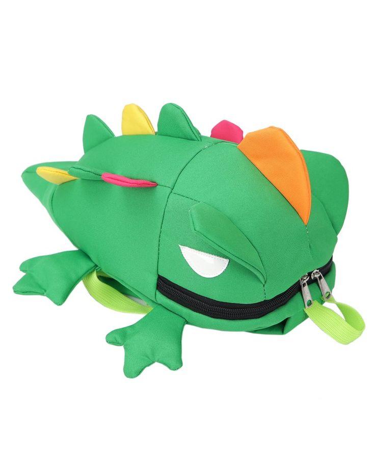 Трехмерные мультфильм Lizard форму детские школьные сумки