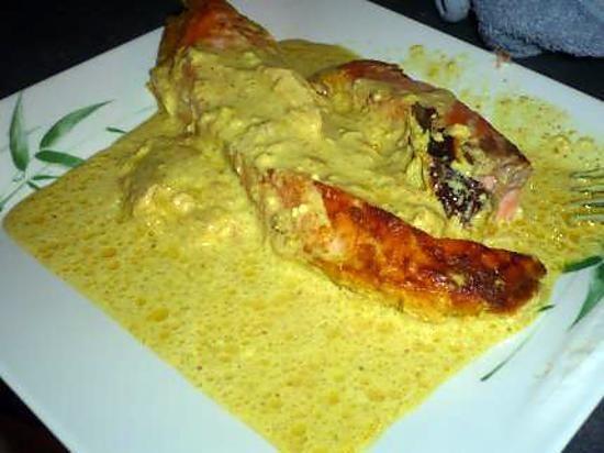 recette pave de saumon curry