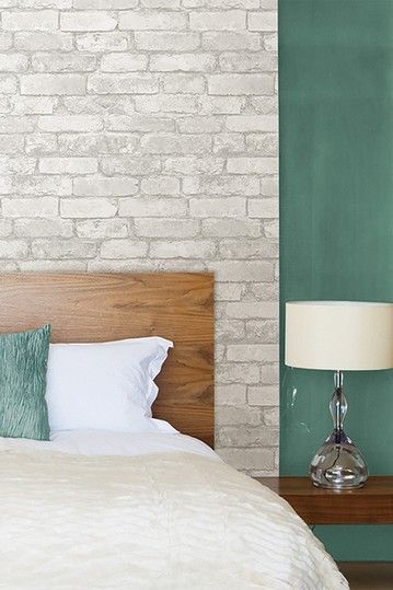 Image of Brewster Home Fashions WallPops Peel & Stick Grey/White Brick NuWallpaper