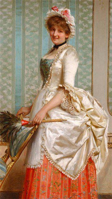Detail of The French Maid – Французская горничная, этюд.