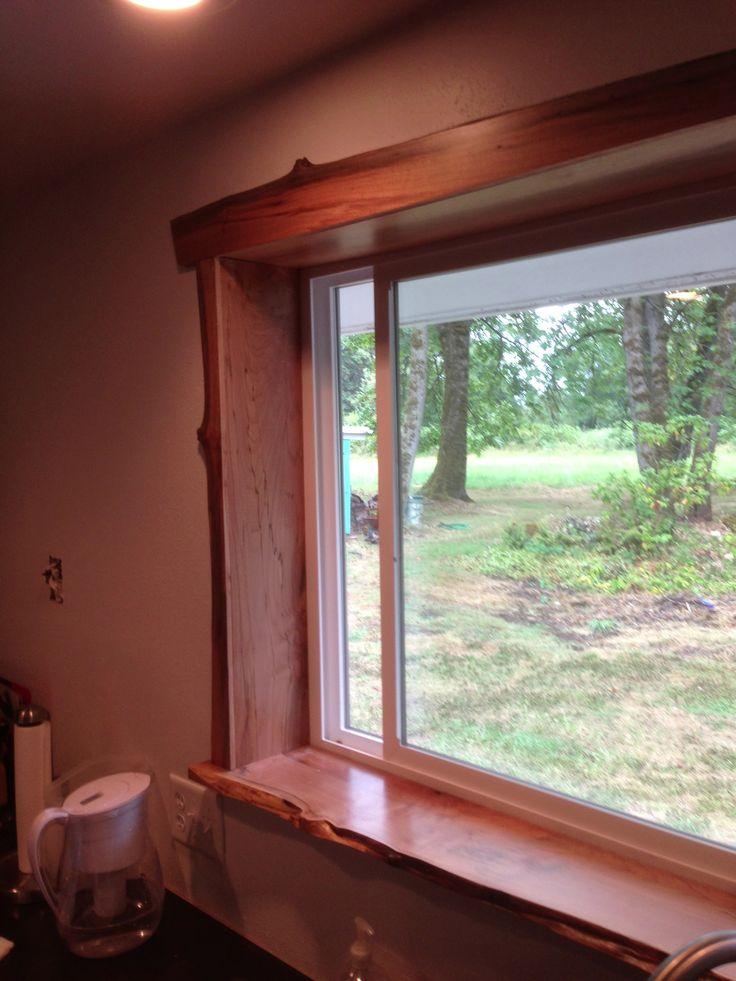 Live edge window sill. #urbanlumberco #salvaged #reclaimed #citytrees #lumberjack #madeinusa #wood #shoplocal #oneofakind #interiordesign #custom #handmade #oregon #newboothkellymill #window #liveedge