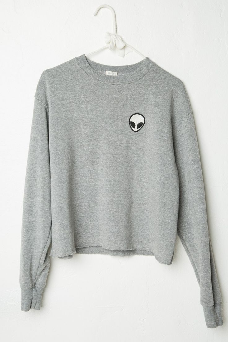 Brandy ♥ Melville | Acacia Alien Patch Sweatshirt - Graphics