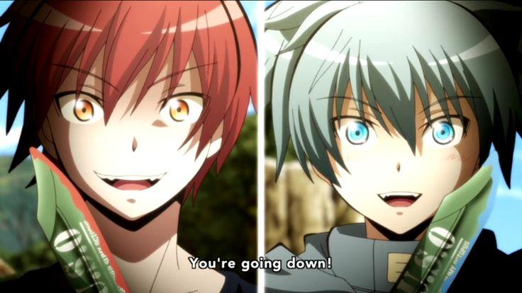 Assassination Classroom Karma Akabane vs Nagisa Shiota episode 18 season 2 final season face off fight