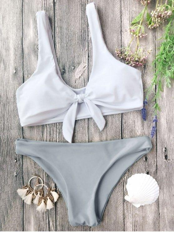 Up to 80% OFF! Padded Knotted Bralette Bikini Set. #Zaful #swimwear Zaful, zaful bikinis, zaful dress, zaful swimwear, style, outfits,sweater, hoodies, women fashion, summer outfits, swimwear, bikinis, micro bikini, high waisted bikini, halter bikini, crochet bikini, one piece swimwear, tankini, bikini set, cover ups, bathing suit, swimsuits, summer fashion, summer outfits, Christmas, ugly Christmas, Thanksgiving, Gift, New Year Eve, New Year 2017. @zaful Extra 10% OFF Code:ZF2017