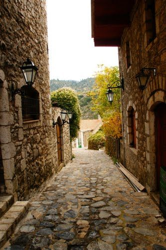 At the mountainous village of Stemnitsa in Arcadia, Peloponnese